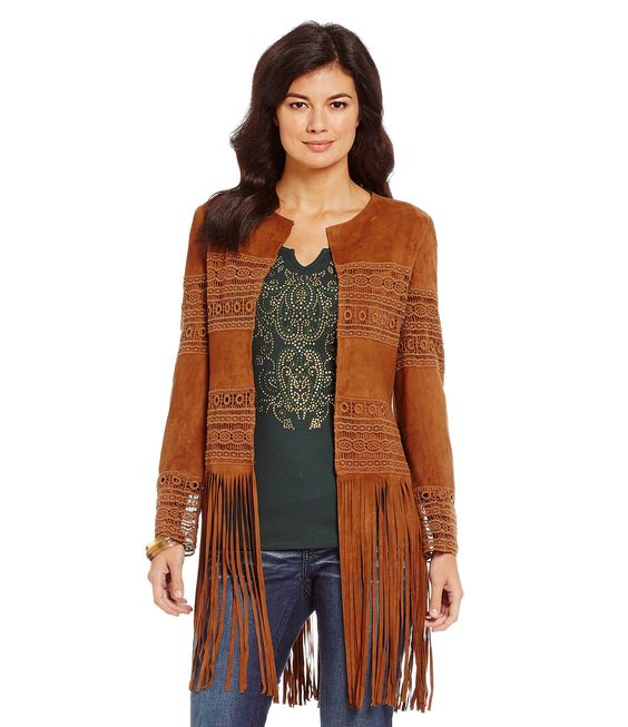 Shop for Reba Suede Fringe Jacket at Dillards.com. Visit Dillards.com to find clothing, accessories, shoes, cosmetics & more. The Style of Your Life.