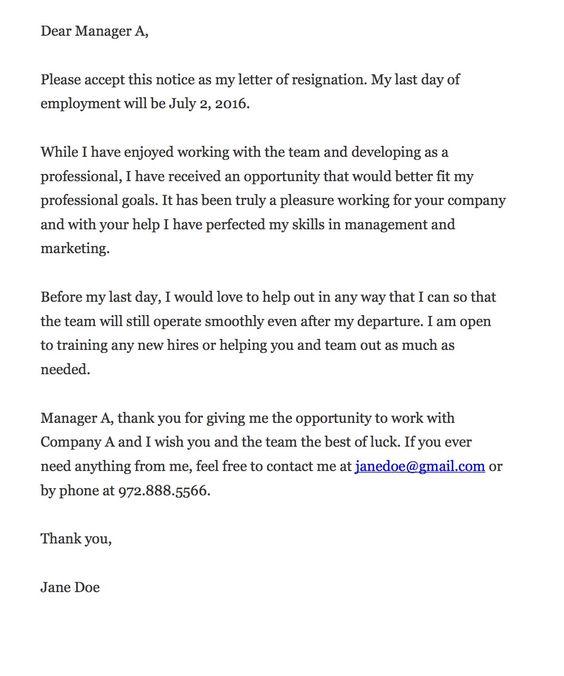 Best 25+ Resignation letter ideas on Pinterest Resignation - free letter of resignation template