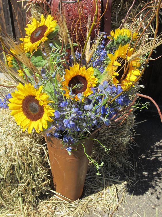 Rustic Western Flower Arrangement