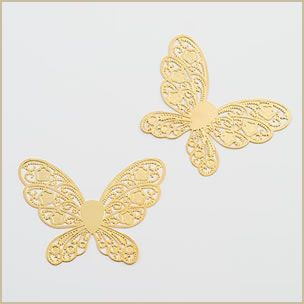 metal butterfly wedding stationery embellishment