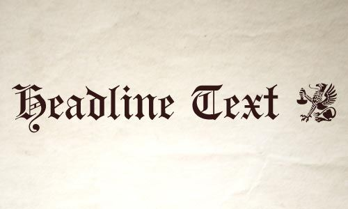 Top 10 Newspaper Headline Fonts Webexpedition18 Newspaper Headlines Lettering Free Font