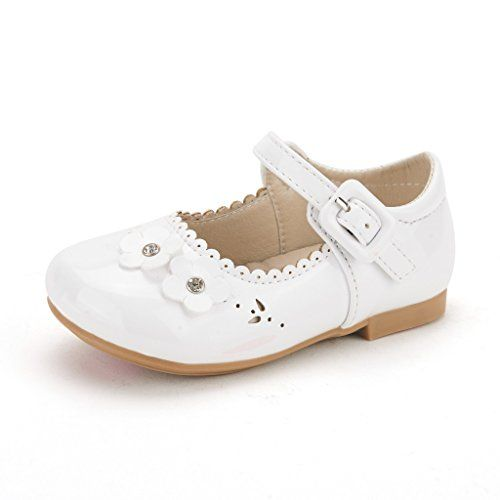 Toddler size 8 white dress shoes mary