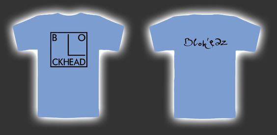 Blockheads shirt. I would probably edit this into a sleeveless crop Tee