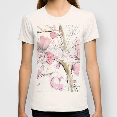 Sumie No.14 Magnolia T-shirt by Sumiyo Toribe - $18.00