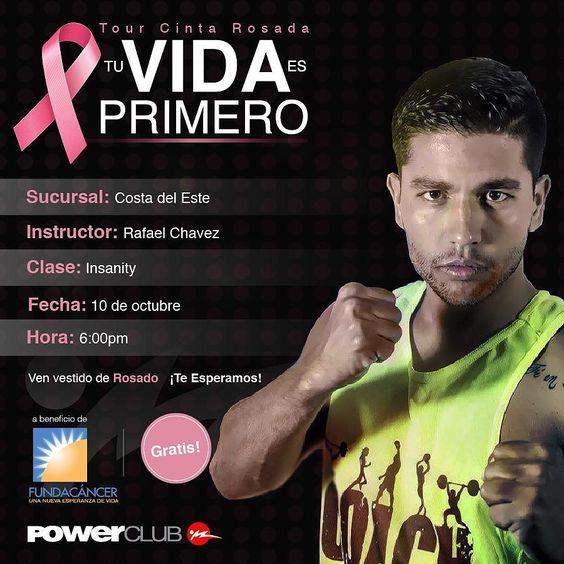 Hoy continúa el #TourCintaRosada @powerclubpanama en #CostaDelEste a las 6 pm con @rafainsanityvzla #TuVidaEsPrimero