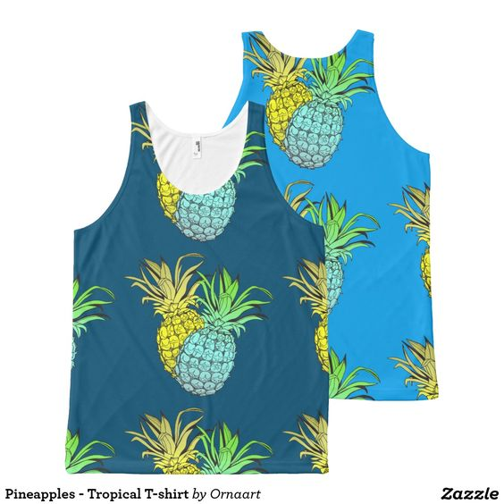 Pineapples - Tropical T-shirt All-Over Print Tank Top
