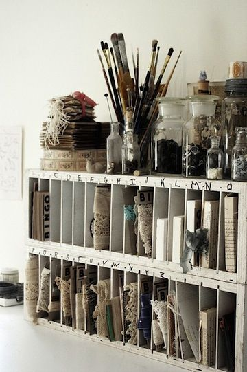 I would love this for a craft area!   10 Best Organized Spaces | Camille Styles: