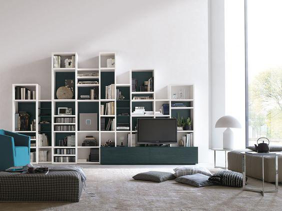 Parete attrezzata per #soggiorno moderno atlante c304 ...