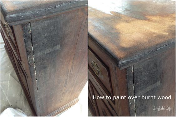 how to paint over fire damaged burnt wood