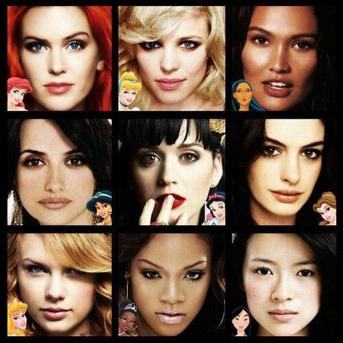 disney princesses look alike celebrities   disney females ...