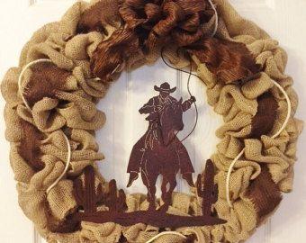 Items similar to Horse Wreath- Country Wreath - Western Wreath ...