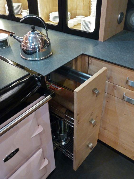 atelier culinaire cuisine ch ne massif clair plan de. Black Bedroom Furniture Sets. Home Design Ideas