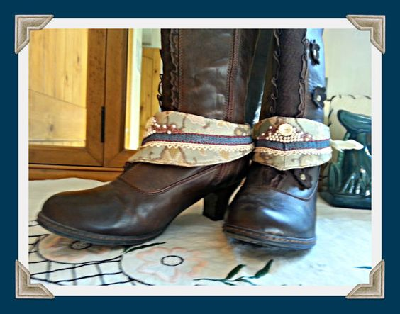 Victorian Steampunk Mini Spats Reclaimed by GuenevereMcMahon