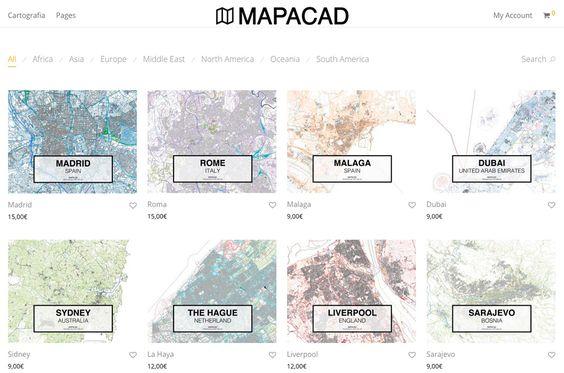 Mapacad.com es una página web donde se pueden encontrar cientos de planos de ciudades en dwg para descargar y ser utilizadas a través de programas de diseño