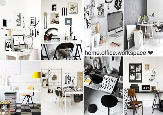 black and white home office workspace scandinavian inspired black white home office inspiration