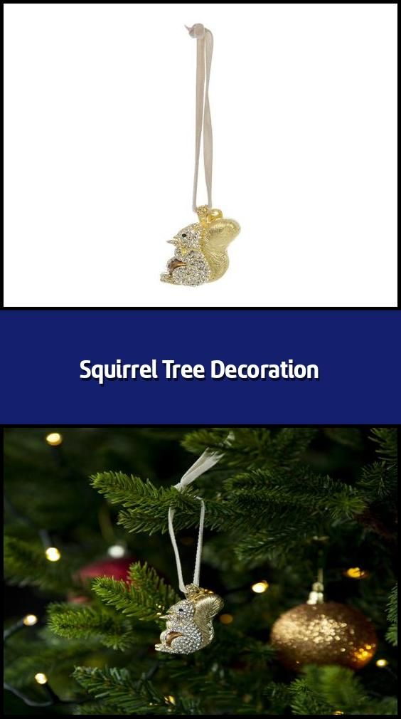 Squirrel Tree Decoration Christmas Tree Decoration Material Zinc Glass Acrylic Dimensio In 2020 Tree Decorations Christmas Tree Decorations Christmas Decorations