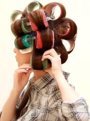 Frisuren Fur Lockenwickler Fur Kurzes Mittleres Und Langes Haar Hair Rollers Hair Curlers Long Hair Styles