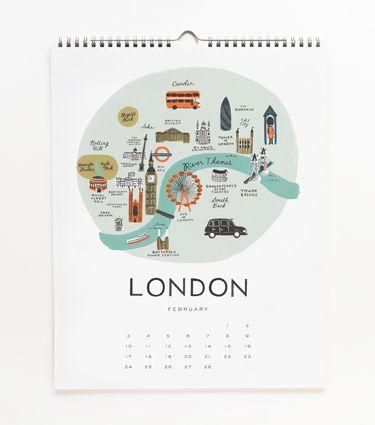 2013 Cities Calendar / Rifle Paper Co.