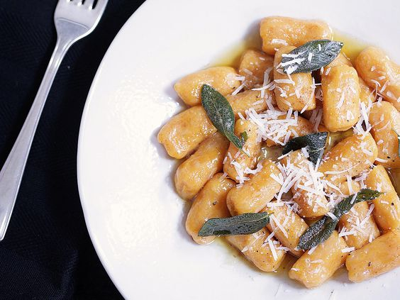 Sweet potato gnocchi with sage butter, potato recipe, brought to you by Madison