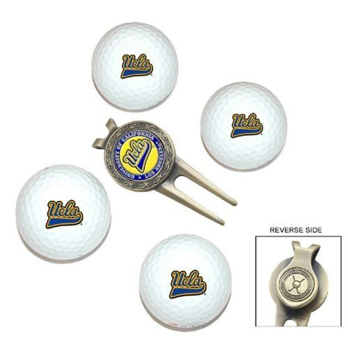 NCAA UCLA 4-Pack Team Golf Ball Gift Set by Team Golf. $19.99. School spirit isn't the kind of thing you leave at home. Take your school pride to the links with the NCAA® golf ball and divot tool set from Team Golf®. Each of the four golf balls is decorated with the team logo, while the metal divot tool features a clip and a removable ball marker that is also printed with the team logo.
