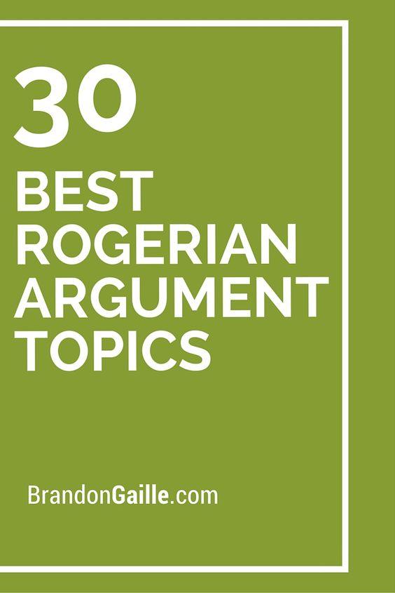Rogerian essay topics