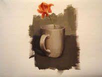 taza con flor