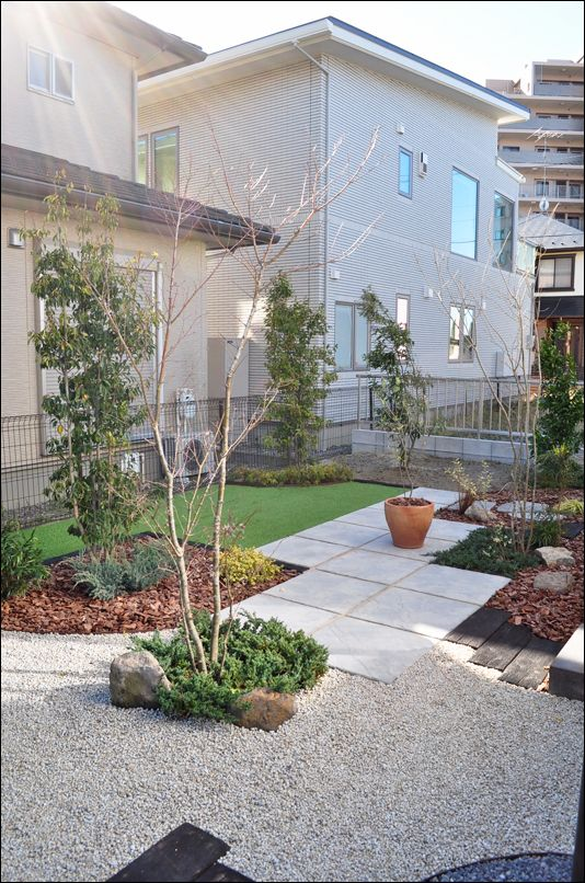 雑草対策をおしゃれにデザインした洋風ガーデン 茂原市t様邸 洋風
