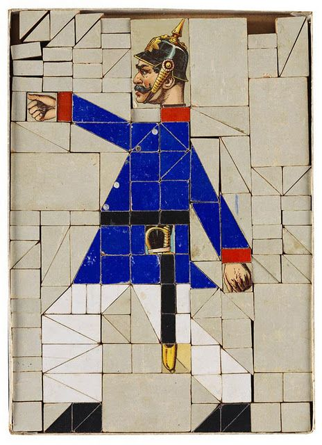 Germany, c. 1890, Mosaic game