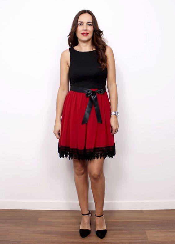 vestido sicilia rojo