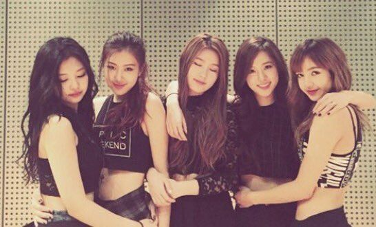 "i-dleofficial: """"[UNSEEN] Predebut photo of Miyeon with BLACKPINK ..."