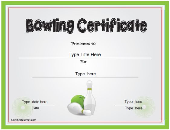 printable bowling