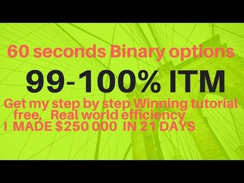 60 Seconds Binary Options Strategy 99 100 Winning 100 Profit