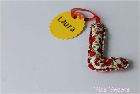 """Letra """"L"""" de tela - Fabric """"L"""" letter"""