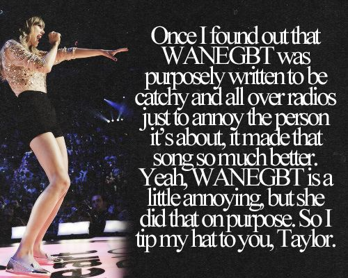 WANEGBT, just got a whole lot better!!! <3 Loved it before, now love it even more!!! :) Go Tay!