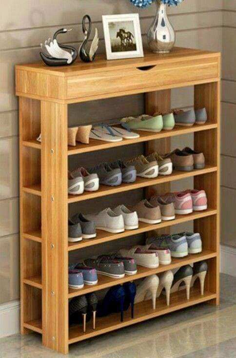 Holzschuhregal Design Ideen In 2020 Wooden Shoe Racks Diy Shoe Storage Diy Bedroom Storage