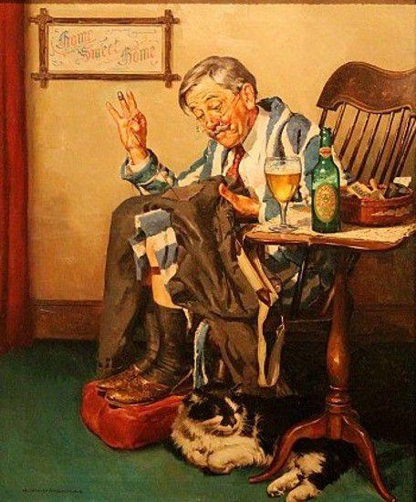 Harold N. Anderson (1894 – 1973)  Ballentine Beer ad
