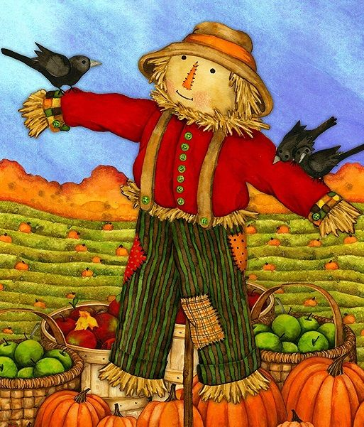Diamond Painting Pumpkin Harvest Scarecrow Design 5D Full Square Wall Decoration