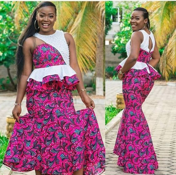 Ankara skirt and blouse style for wedding:Check  out stunning and creative ankara skirt and blouse you should Try out | Correct Kid