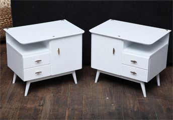 Pair of small vintage deco night stands