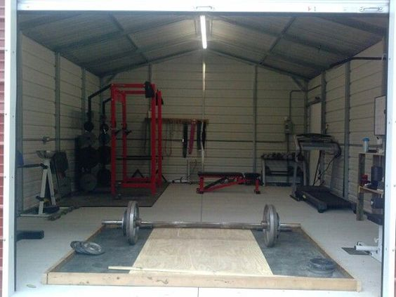 Dedicated iron shed gym diy platform even garage