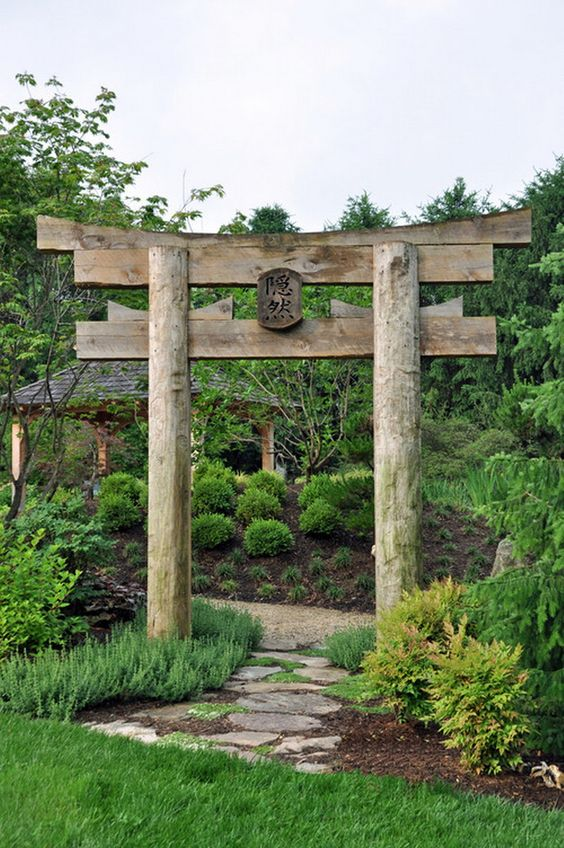 Decorative Japanese Garden Gate Ideas | Garden Separation Ideas