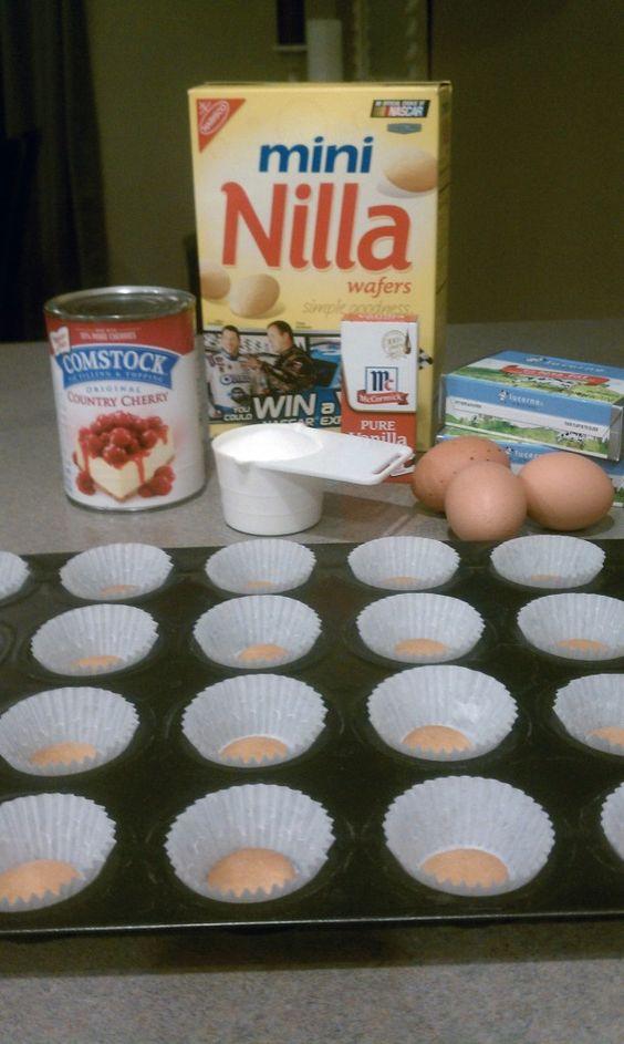 Mini cherry cheesecake recipe - ingredients