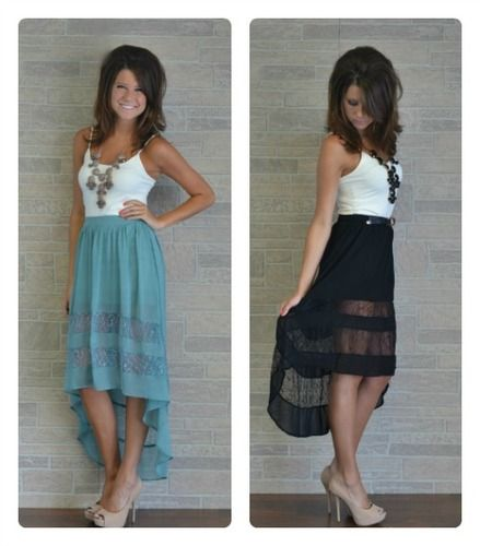 Help me out... Can I wear this type of skirt without a shirt tucked in? Or will that not look good?