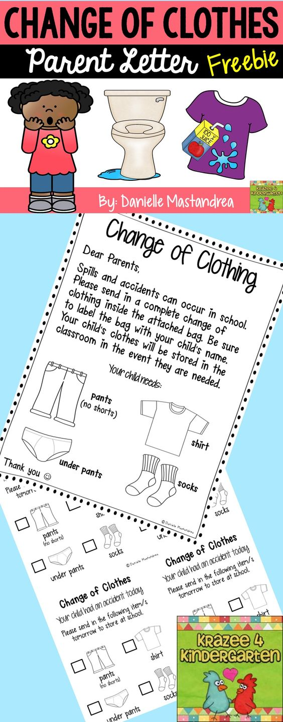 change of clothing parent letter freebie krazee 4 student teacher resume examples mechanical site engineer sample administration profile