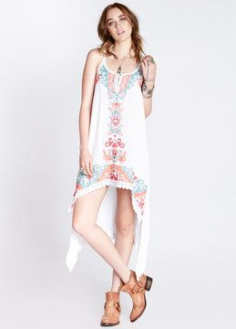 Embroidered Tank Dress women new Dresses