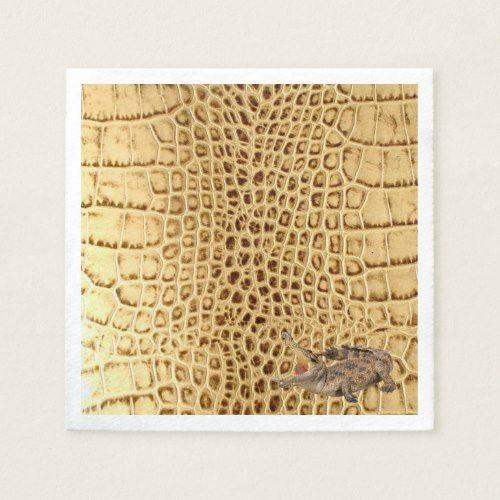 Vintage Wild Crocodile Brown Alligator Leather Paper Napkins Zazzle Com Wild Crocodile Personalized Pet Animal Print Party