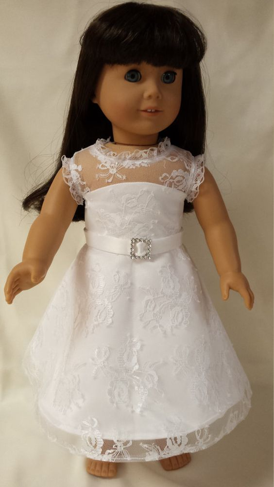 Lace Wedding Dress for 18 doll by PetiteTerese on Etsy