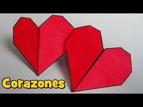 Corazón Doble con una Hoja de Papel - Origami - YouTube