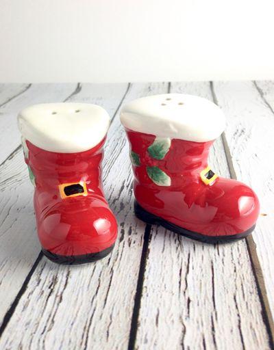 Vintage Repro Santa's Boots Salt & Pepper Shakers