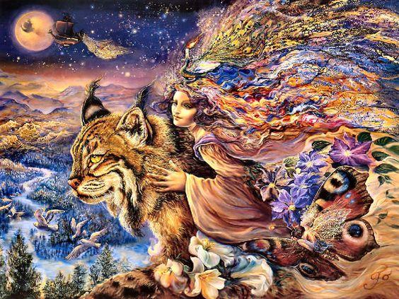 Flight of the Lynx by Josephine Wall